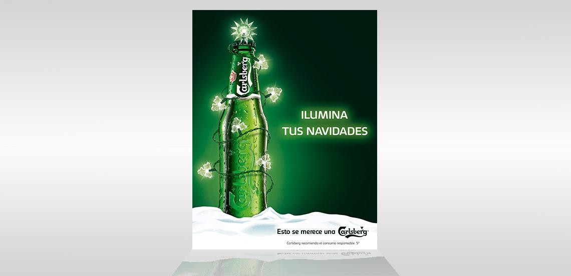 MAHOU. Cartel PLV Carlsberg