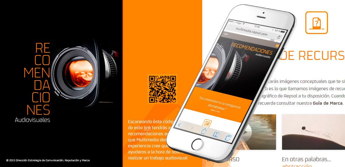 REPSOL. App  guía de estilo audiovisual